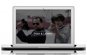 Hak und Lenny Webseite auf Macbook